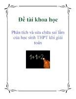Đề tài khoa học: Phân tích và sửa chữa sai lầm của học sinh THPT khi giải toán doc