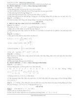 Tổng hợp 100 đề thi thử tốt nghiệp THPT phần 9 ppt