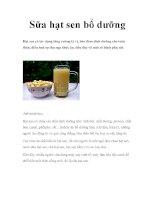 Sữa hạt sen bổ dưỡng ppt