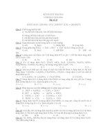 KÌ THI THỬ ĐẠI HỌC NĂM HỌC 2010-2011- Bài số 14 pdf