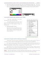 Quá trình hình thành tổng quan kiến thức về cách tạo chuyển động và hiệu ứng trong quy trình thiết kế p4 pps