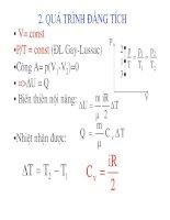 Vật lý đại cương - Nguyên lý thứ nhất nhiệt động lực học phần 2 potx