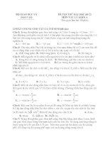 Tổng hợp đề thi thử môn Vật Lý 2011 : Đề số 02 potx