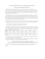 ĐỀ THI THAM KHẢO XÁC SUẤT THỐNG KÊ-ĐỀ THI SỐ 04 ppsx