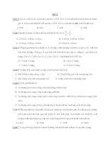 Tổng hợp đề thi thử môn Sinh Học 2011 : Đề số 02 pptx