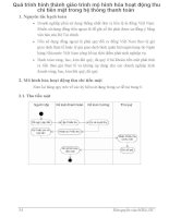 Quá trình hình thành giáo trình mô hình hóa hoạt động thu chi tiền mặt trong hệ thống thanh toán p1 pps