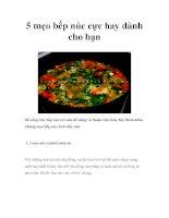 5 mẹo bếp núc cực hay dành cho bạn pdf