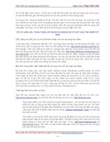 Hướng dẫn cách kiếm tiền trên Internet cùng John Chow phần 4 pps