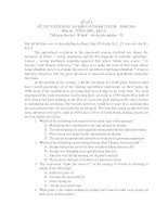 ĐỀ SỐ 5: ĐỀ THI TUYỂN SINH CAO ĐẲNG SƯ PHẠM TP.HCM – MÔN:TIẾNG ANH ppt