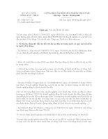 Công văn số 1500/TCT-CS ngày 4/5/2011 của Tổng cục Thuế pps
