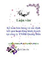 Luận văn: Kế toán bán hàng và xác định kết quả hoạt động kinh doanh tại công ty TNHH Quảng Điền pps