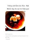 Trứng cút hầm táo Tàu - bài thuốc đẹp da cực kỳ hiệu quả potx