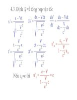 Vật lý đại cương - Thuyết tương đối hẹp Einstein phần 2 pps