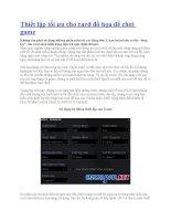 Thiết lập tối ưu cho card đồ họa để chơi game doc