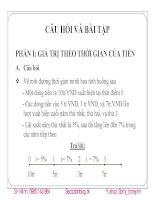 Bài tập và hướng dẫn giải thực hành tài chính doanh nghiệp 2 ppsx