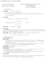 ĐỀ THI KIỂM TRA KIẾN THỨC LỚP 12 LẦN 1 NĂM 2011 Môn Toán - Khối A, B - Trường THPT YÊN ĐỊNH 3 doc