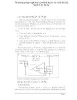 Phương pháp nghiên cứu tính toán và thiết kế bộ nguồn áp xung p1 ppt