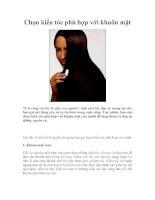 Chọn kiểu tóc phù hợp với khuôn mặt pdf