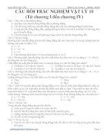Tổng hợp bài tập trắc nghiệm lí pdf