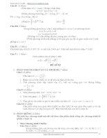 Tổng hợp 100 đề thi thử tốt nghiệp THPT phần 8 ppt