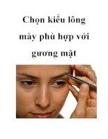 Chọn kiểu lông mày phù hợp với gương mặt ppt