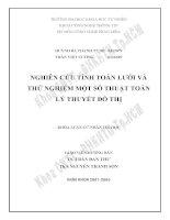 Luận văn: Nghiên cứu tính toán lưới và thử nghiệm một số thuật toán lý thuyết đồ thị pdf