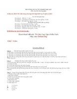 Tài liệu ôn thi môn sinh : Hệ thống câu hỏi ôn thi môn sinh phần 1 potx
