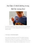 Sai lầm về dinh dưỡng trong thời kỳ mang thai pot