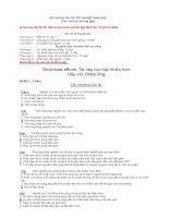 Tài liệu ôn thi môn sinh : Hệ thống câu hỏi ôn thi môn sinh phần 2 pptx