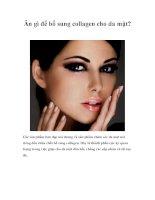 Ăn gì để bổ sung collagen cho da mặt? docx