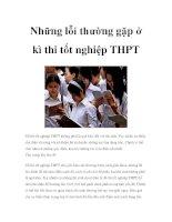 Những lỗi thường gặp ở kì thi tốt nghiệp THPT pptx