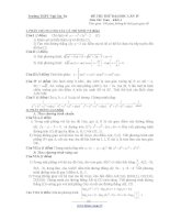 ĐỀ THI THỬ ĐẠI HỌC LẦN 4 MÔN: TOÁN - TRƯỜNG THPT NGÔ GIA TỰ pot