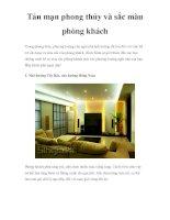 Tản mạn phong thủy và sắc màu phòng khách potx