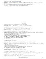 Tổng hợp 100 đề thi thử tốt nghiệp THPT phần 4 docx