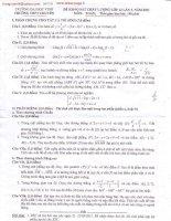 ĐỀ THI KHẢO SÁT CHẤT LƯỢNG LỚP 12 LẦN 3 NĂM 2011 Môn Toán - Trường THPT CHUYÊN pps