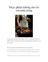 Thực phẩm không nên ăn vào mùa nóng potx