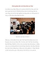 Kinh nghiệm khi xin đi làm thêm tại Nhật pps
