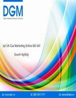9 lợi ích của marketing online đối với doanh nghiệp