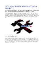 Xử lý những lỗi người dùng thường gặp với Windows 7 potx