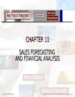 New Products Management- CHAPTER 11 SALES FORECASTING AND FINANCIAL ANALYSIS doc
