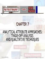 New Products Management- CHAPTER 7 ANALYTICAL ATTRIBUTE APPROACHES: TRADE­OFF ANALYSIS ppt