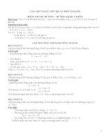 Các bài toán liên quan đến hàm số ôn thi vào lớp 10