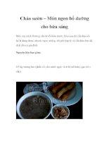 Cháo sườn – Món ngon bổ dưỡng cho bữa sáng doc