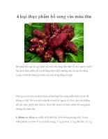 4 loại thực phẩm bổ sung vào mùa thu pps