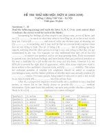ĐỀ THI THỬ ĐẠI HỌC ĐỢT II (2008-2009) MÔN ANH VĂN docx
