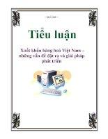 Tiểu luận: Xuất khẩu hàng hoá Việt Nam – những vấn đề đặt ra và giải pháp phát triển potx