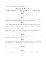 Y học cổ truyền Việt Nam - Sách kim quỹ part 8 pdf