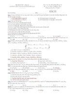 Trường THPT chuyên Huỳnh Mẫn Đạt - đề thi hóa học 12 nâng cao (đề số 511) ppsx