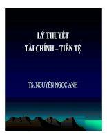 Bài giảng Lý thuyết tài chính tiền tệ  TS. Nguyễn Ngọc Ảnh