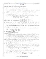 Đề thi thử Đại học năm 2011 của Trần Sỹ Tùng ( Có đáp án) - Đề số 6 potx